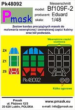 MESSERSCHMITT Bf-109 F-2 CANOPY PAINTING MASK TO EDUARD KIT #48092 1/48 PMASK
