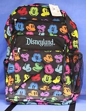 Disney Disneyland Resort Zippered Backpack Mickey Mouse Faces Bag NWT 2017