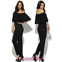 Overall donna tutina jumpsuit pantaloni gitana barchetta abito nuovo DL-1587