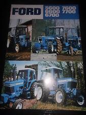 Prospekt Sales Brochure Ford 5600 7600 6600 7700 6700 Traktor tractor tracteur
