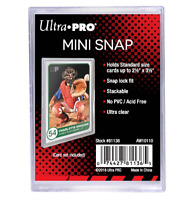 (5 Pack) Ultra-Pro Mini Snap Card Holders Stackable For Standard Trading Cards