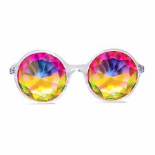 Xtra Lite Kaleidoscope Glasses - Clear - Diffraction Multi-Faceted Rainbow Rave
