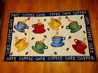 "Vintage Hand Hooked Rug 45"" x 27"" FARM HOUSE COFFEE!!"