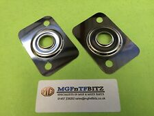MGF / MG TF / LE500 PAIR OF POLISHED STAINLESS RAD / RADIATOR MOUNTS / MOUNTINGS