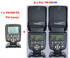 Yongnuo YN560-TX C  Wireless Flash Controller for Canon + 2 Pcs YN-560IV Flash