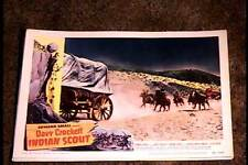 DAVY CROCKETT INDIAN SCOUT 1949 LOBBY CARD #2 NATIVE AMERICAN INDIAN WESTERN