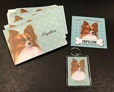 New Old Stock Gift Papillon Gift Set ~ Notecards w/Env , Key Ring & Magnet