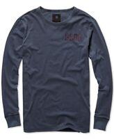 G-Star Raw Mens T-Shirt Mazarine Blue Large L Graphic 2 Crewneck Tee $70 014