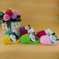 Cat Sleep Slipper Plush Doll With Sound Cute Stuffed Kids Toy Gift Z2K9