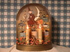 OLD+BRASS+ELECTRIC+CANDLE+LAMP+HALLOWEEN+WITCH+PUMPKIN+FOLK+ART+HAND+PAINTED