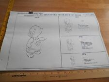 1995 Character Uniform Space Jam model sheets for art designers working on film