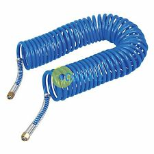 """Coiled Air Hose 10M Air Tools Hose With 1/4"""" BSP Female Nut End Fittings 10 Bar"""