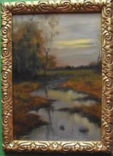 End of Day : Original Impressionist Oil Painting Alan Dickson 21cm X 30cm