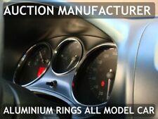 Seat Leon II 1P 2005-2012 Cerclages De Compteur Aluminium Anneaux Chrome Neuf x3