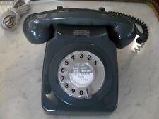 VECCHIO TELEFONO INGLESE DA TAVOLO COLORE VERDE ANNI '70 FUNZIONANTE