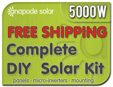Solar Panel Kit with Enphase M215 - Do It Yourself for Home 5200W 5kw Complete
