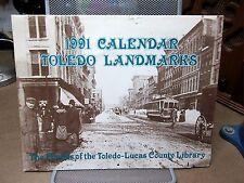 TOLEDO Historic Calendar 1991 nostalgia prints OHIO landmarks Wheeling railroad