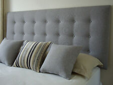 NEW BED HEAD SUPER KING SIZE BUTTONED UPHOLSTERED BEDHEAD /  HEADBOARD