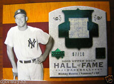Mickey Mantle 2005 7/10 Upper Deck Hall Of Fame Game Used Jersey Yankees 1/1