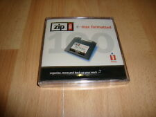 100MB IOMEGA ZIP DISC MADE IN BELGIUM PC / MAC FORMATTED NEW FACTORY SEALED