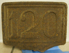 Vintage FRENCH Cast Iron Street Sign 120 House Door Metal LARGE