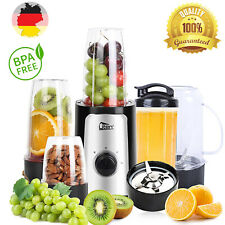 7in1 Smoothie Maker Standmixer BPA frei Edelstahl Mixer Milchshaker Ice-Crusher