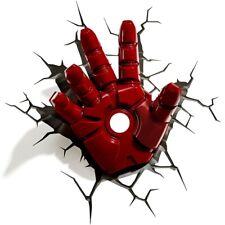 3d Marvel Iron Man Hand Wall Light - Red