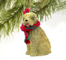 WHEATEN TERRIER DOG CHRISTMAS ORNAMENT HOLIDAY Figurine Scarf Gift