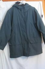 EDDIE BAUER GREEN HOODED PARKA W/ ZIP OUT GOOSE DOWN LINER WOMEN'S SZ MED