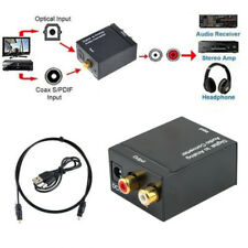 Toslink Optical Coaxial Digital To Analog Audio Converter Connector Adapter RCA