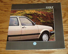 Original 1988 Volkswagen VW Golf Deluxe Sales Brochure 88
