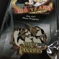Disney Pin 100 Years of Dreams #87 penguins Mary Poppins Retired Pin 8498