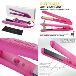 Herstyler Colorful Seasons Ceramic Flat Iron - Dual Voltage 1.25 Inch Pink