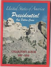 Presidential $ one Dollar Coin Album  folder  2007-2016