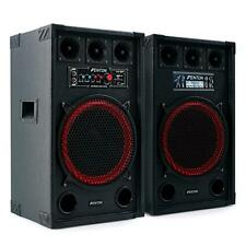 """DISCO DJ PROFESSIONAL ACTIVE PA SPEAKERS 12"""" 800W SET *FREE P&P SPECIAL OFFER"""