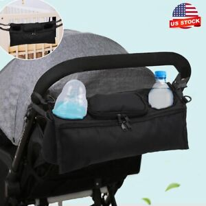 Baby Storage Bag Pram Organiser Buggy Stroller Pushchair Mummy Bottle Cup Holder