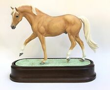 Royal Worcester Bone China Horse Statue Palomino Stallion Doris Lindner Nice !