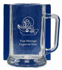 Personalised Fishing Pint Glass Tankard Birthday Free Gift Box GT17