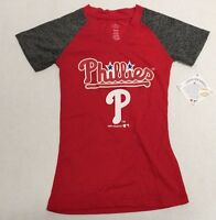 Philadelphia Phillies Official MLB Genuine Kids Youth Girls Size Sheer Shirt New
