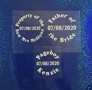 Wedding Personalised Iron on x 1 Property of Boxer Short  Stag