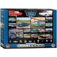 Cruisin' Classics American Cars of the 50s 1000 piece jigsaw puzzle (pz)
