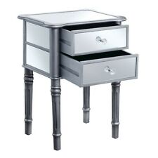 Convenience Concepts Gold Coast Mayfair End Table, Silver/Mirror - 413745S
