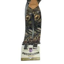 "Brimarc Mens Heavy Duty Suspender 2"" 50mm Wide Gardner Print Braces Extra Strong"
