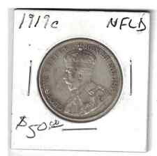 1919 50 cents Silver Coin NFLD Canada