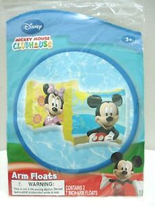 Disney Mickey Mouse Club House Swimming 7 Inches Arm Floats Water Training Aids