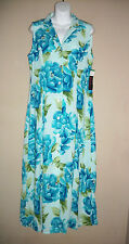 D.G.I. by Darian Sz 10 Button Down Maxi Dress Floral Slvless Cris Cross Back NWT