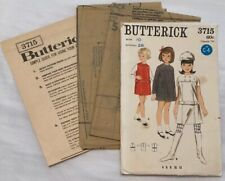 Vintage UNCUT 60s Butterick 3715 Sewing Pattern Dress Jumper Size 10 Breast 28
