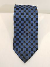 Reserve Mens Neck Tie Dark Blue and Square lined pattern -Formal Business Attire