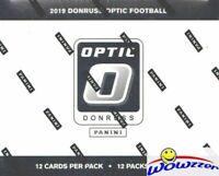 2019 Panini Donruss Optic Football EXCLUSIVE Sealed Jumbo FAT CELLO Box-144 Card