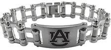 AUBURN UNIVERSITY TIGERS Stainless Steel Bike Chain Bracelet w/Logo NCAA Jewelry